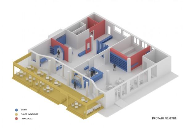 Ανασχεδιασμός καφετερίας & παιδότοπος στην Αγυιά.